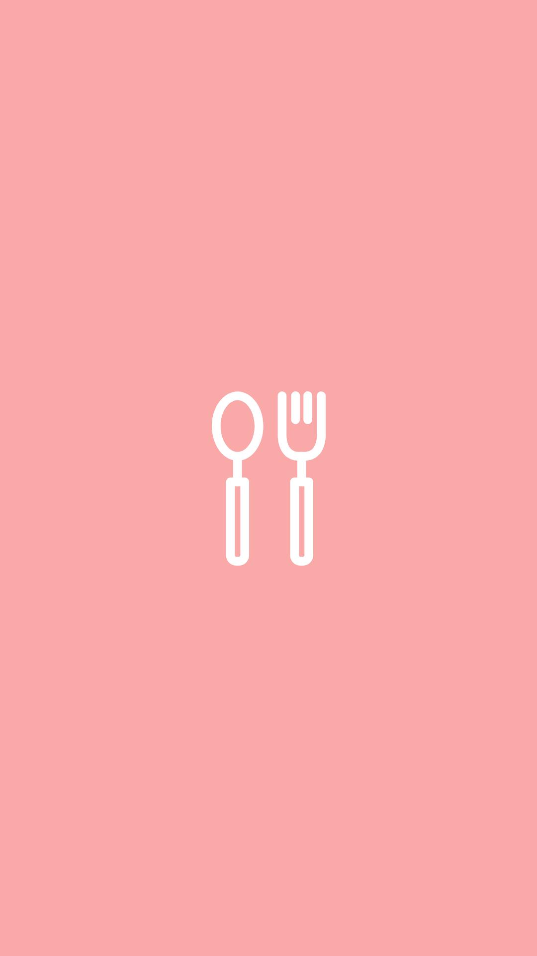 Pink Instagram Story Highlight Cover Food Eats Fotografi Gambar Objek Gambar