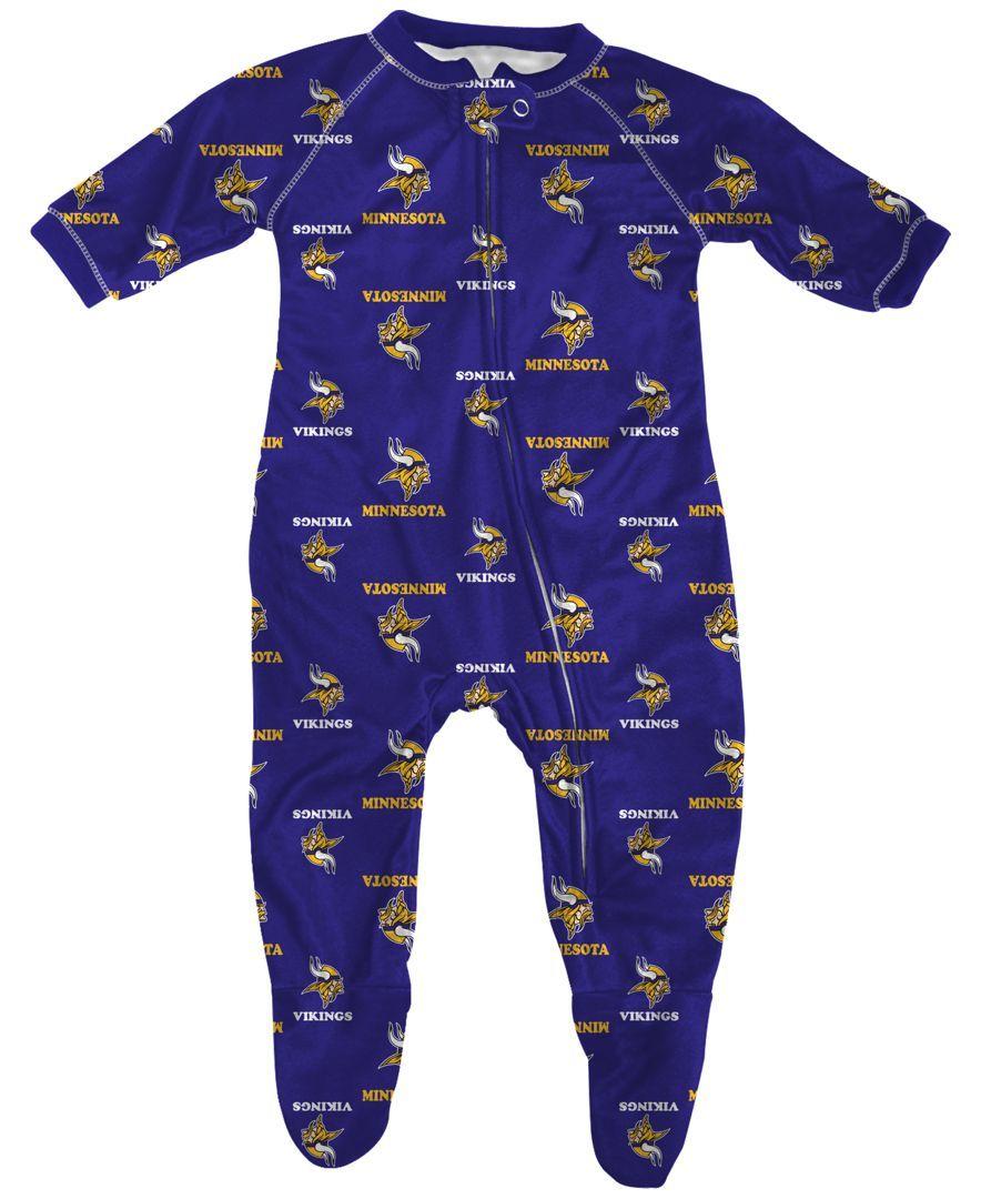 d21ca41a5 Outerstuff Babies' Minnesota Vikings Zip-Up Coverall | Baby B ...