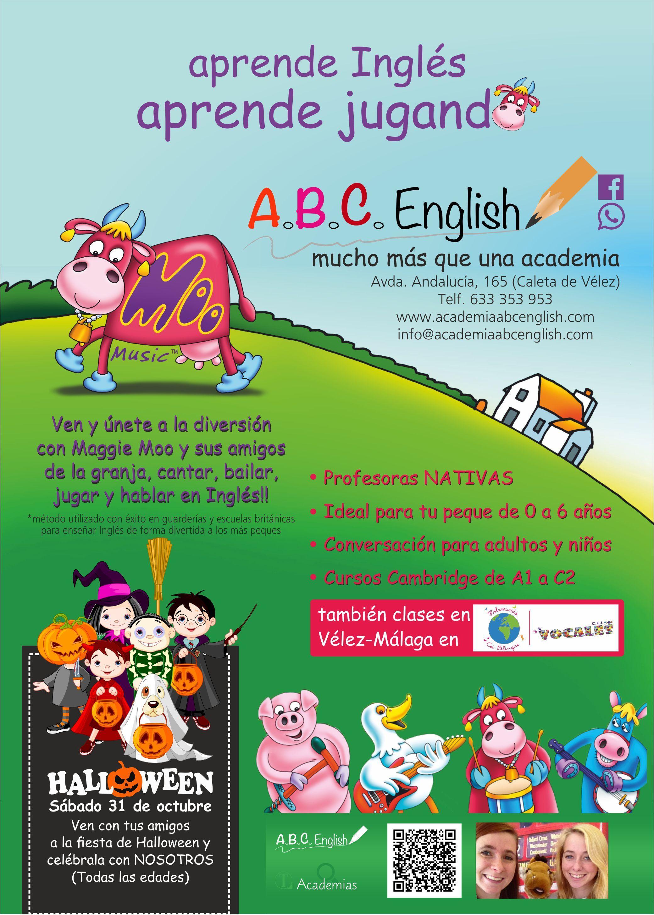 En ABC English aprenderás Inglés, aprenderás jugando. No te pierdas Halloween y celébralo con nosotros