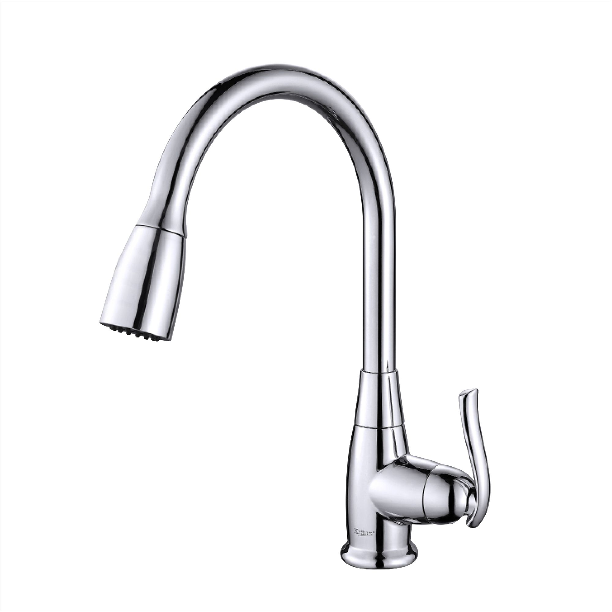 A sleek, single-lever, pullout kitchen faucet will add a stylish ...