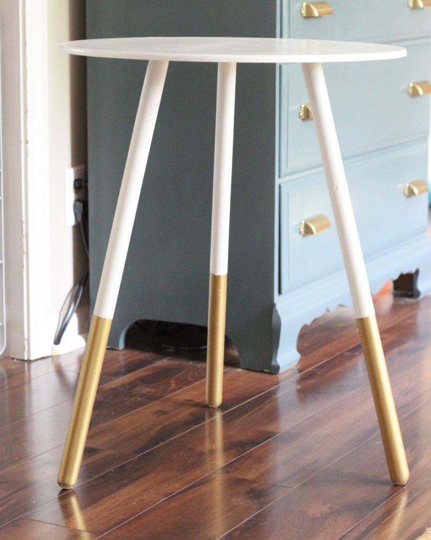 Gold Dipped Tripod Table Diy Side Table Home Home Decor