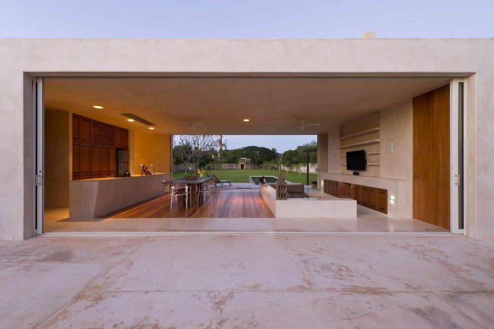 modernes wohnhaus yucatan mexico rechteckige form