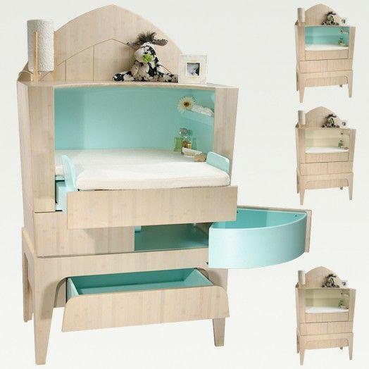 Kinderzimmer Babyzimmer Gestalten Bett Kinder Möbel Etagenbett.  WickeltischPraktischBabyzimmer ...