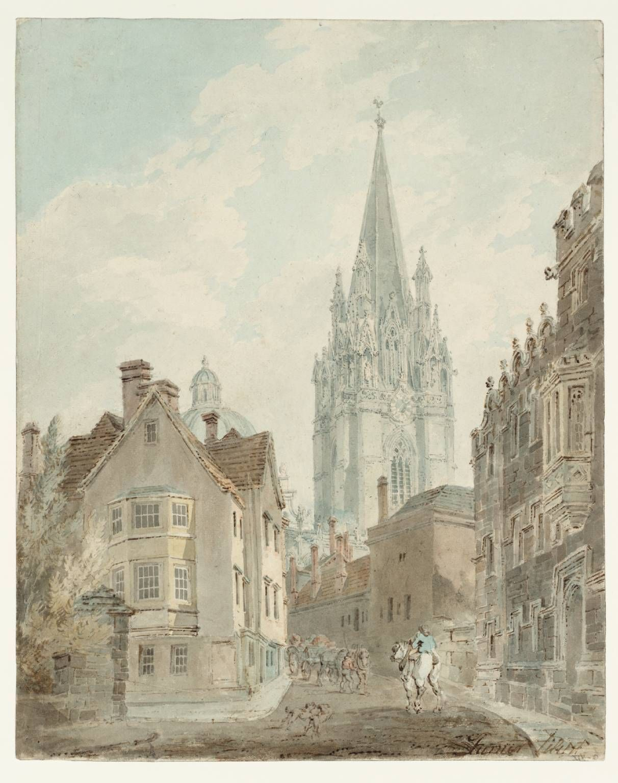 Joseph Mallord William Turner Oxford St Mary' Church And Radcliffe Camera Oriel