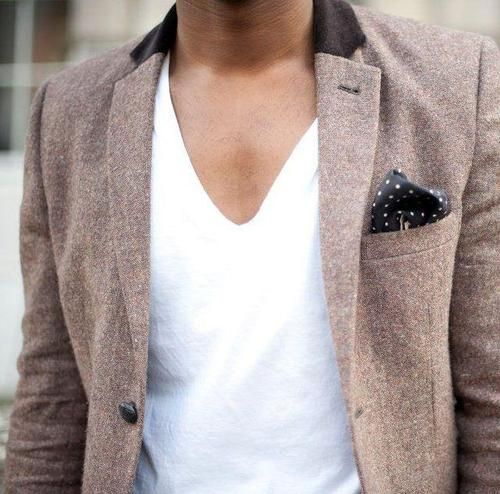 Great jacket. V neck tshirt is a bit too deep for my taste, but it looks nice.