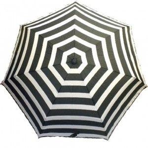Black Striped Patio Umbrella   Black And White Bold Stripe Umbrella By Echo  Design   Polyvore
