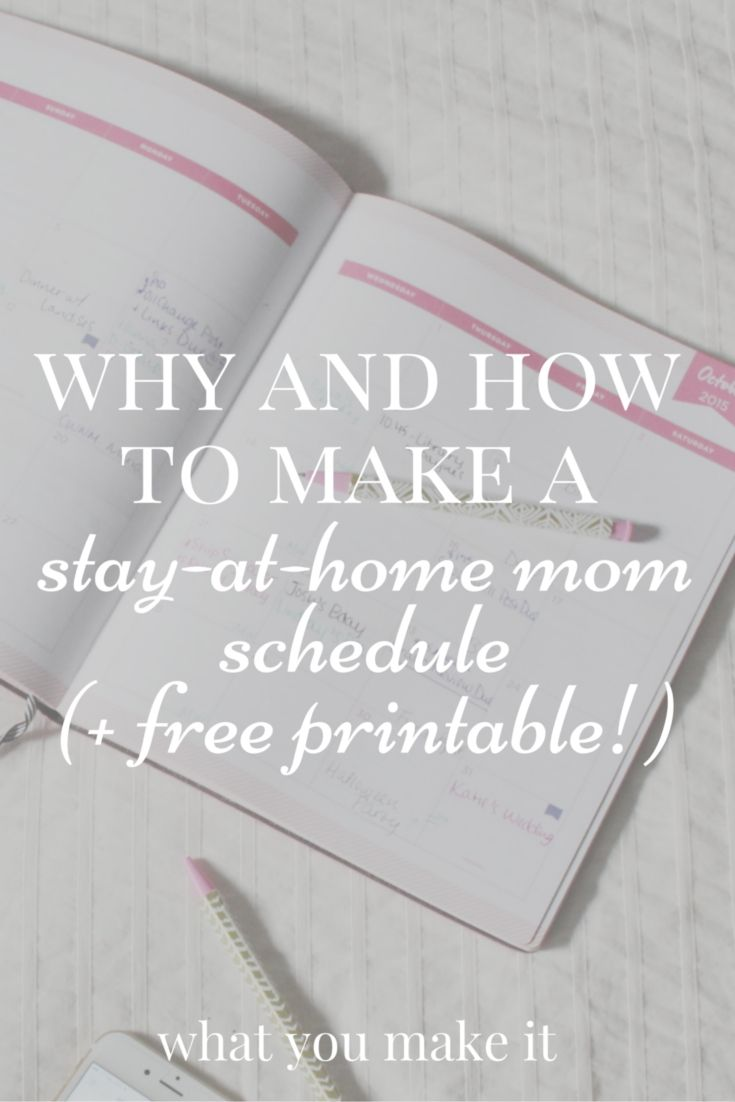 why and how to make a SAHM schedule (with free printable | Routine ...