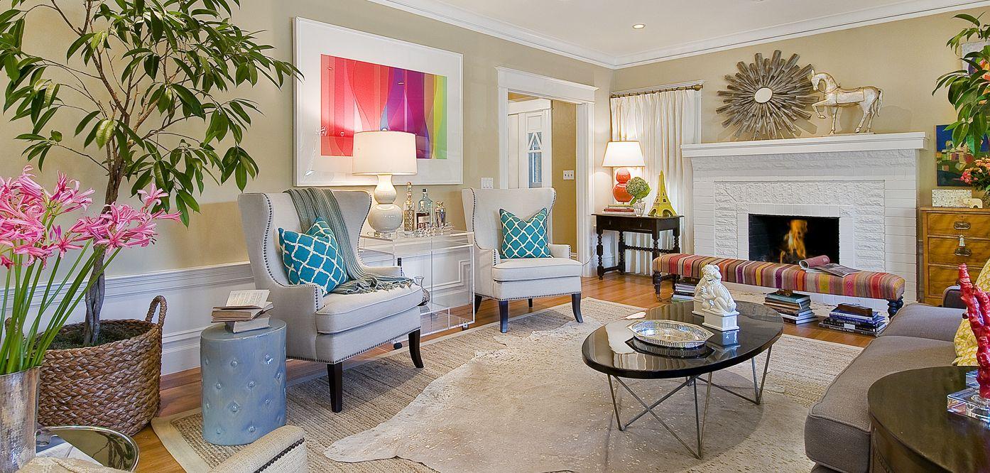 Living Room Magenta Citron