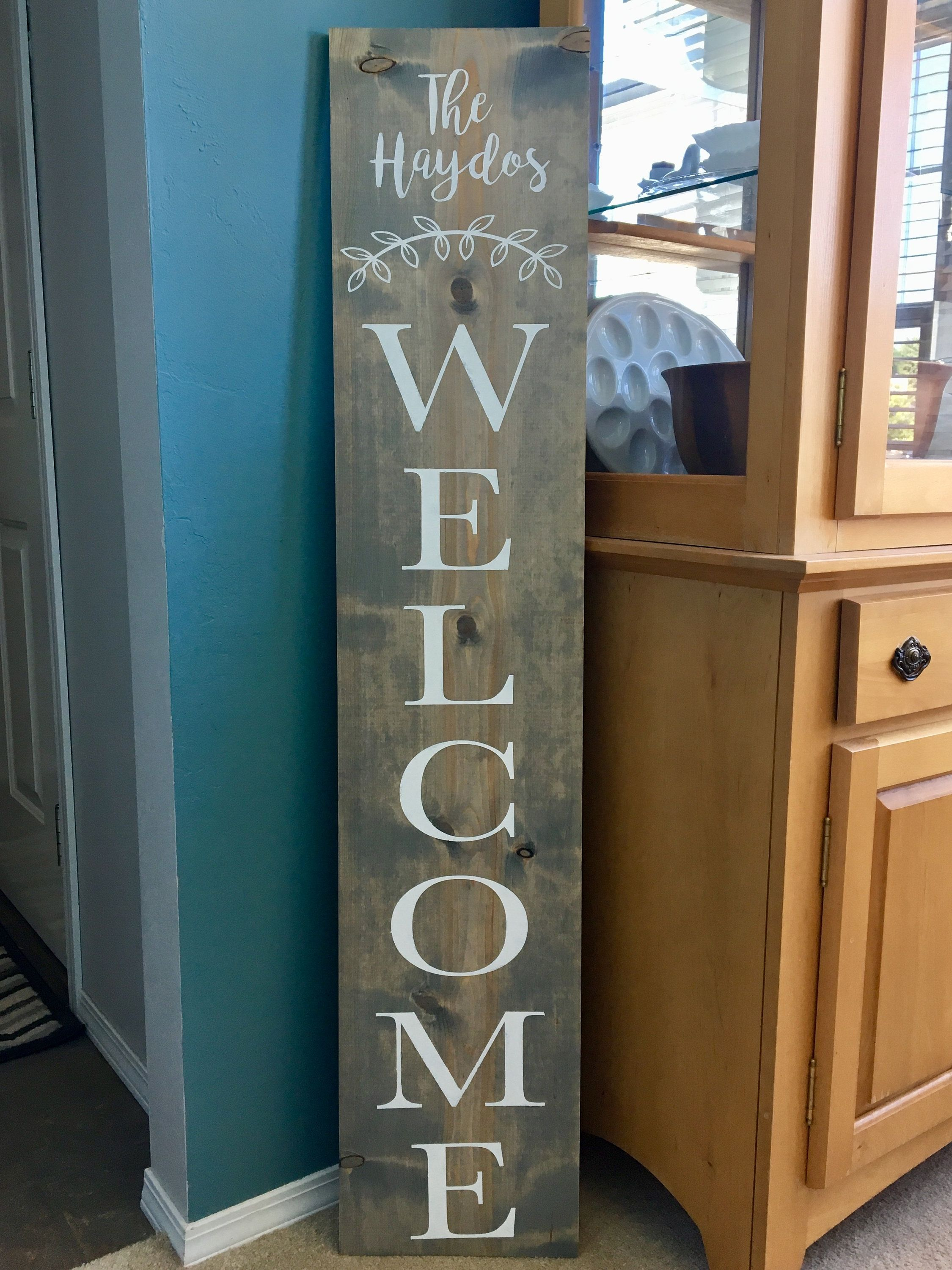Excited To Share The Latest Addition To My Etsy Shop Welcome Sign Custom Name Welcome Welcome Porch S Porch Welcome Sign Wooden Welcome Signs Porch Signs