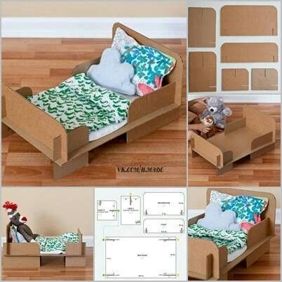 puppen bett diy kinderzimmer pinterest bett puppen und spielideen. Black Bedroom Furniture Sets. Home Design Ideas