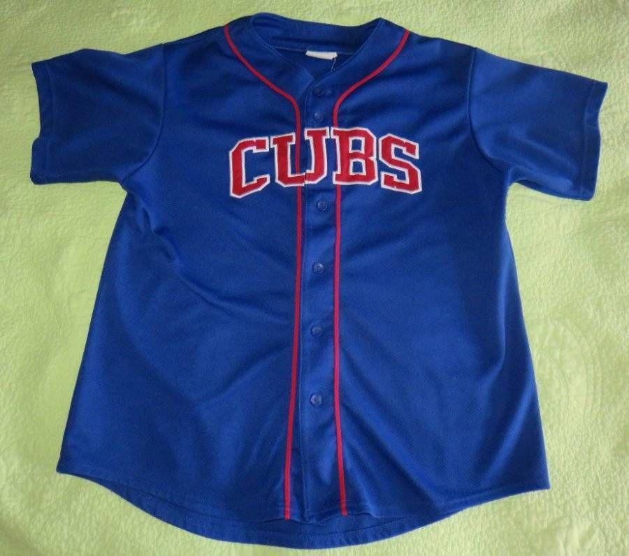 save off a78cc a3f52 SOLD*** Chicago CUBS Baseball JERSEY Button SHIRT Adult Sz ...
