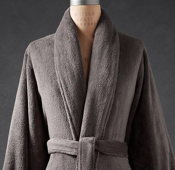 913431a275 Restoration Hardware Robe Luxury Plush Robe graphite