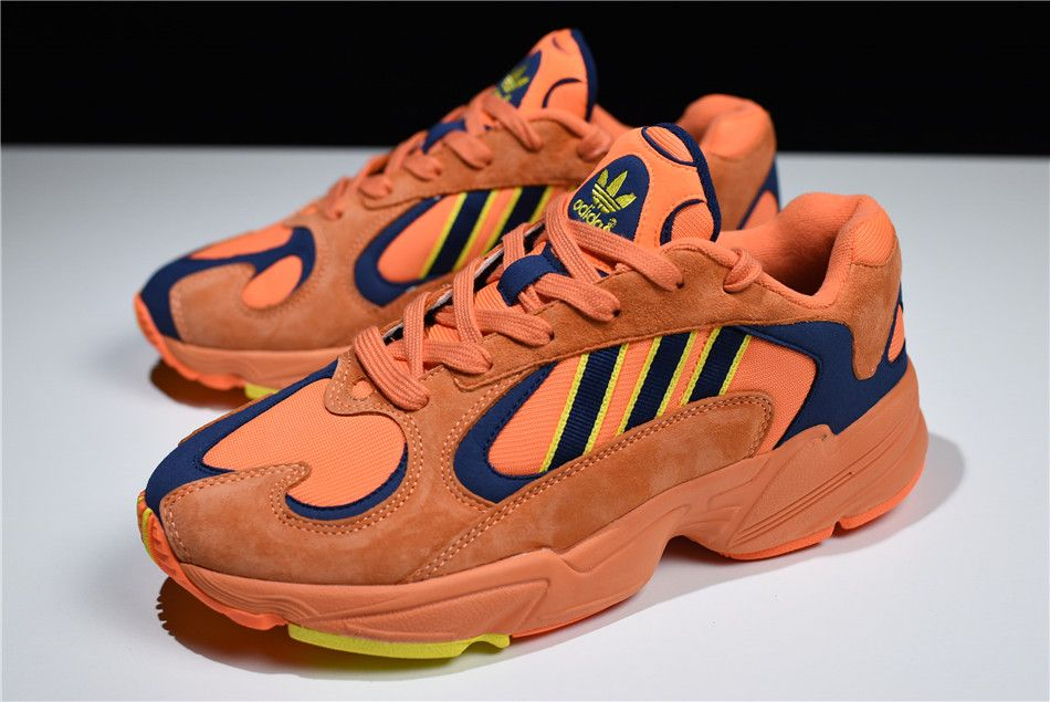 best loved e923b 2b691 2018 adidas Yung-1 Goku Hi-Res OrangeShock Yellow B37613