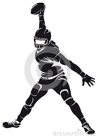Jugador De Futbol Americano Silueta Football Players American Football American Football Players