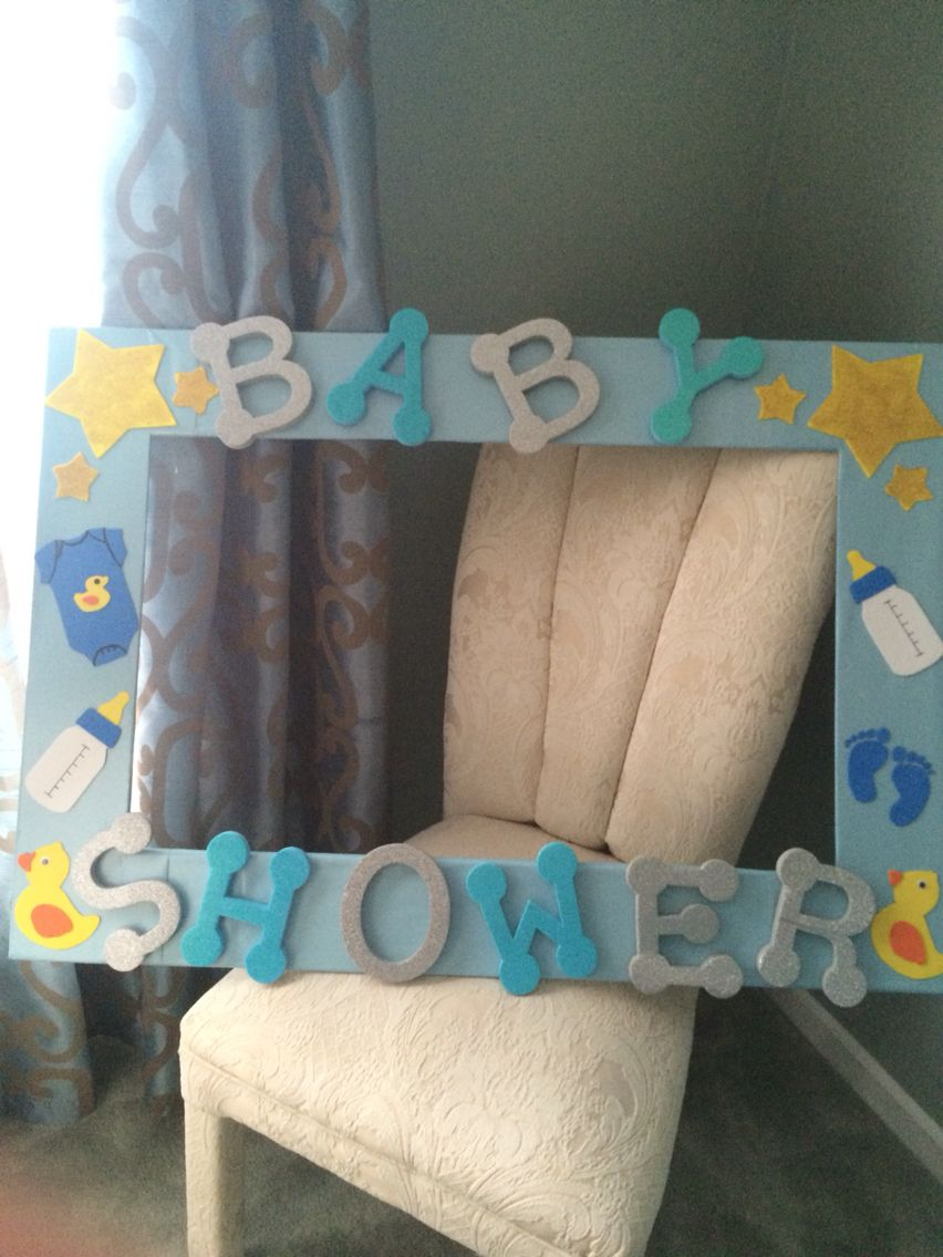 Cuadro para tar fotos de baby shower pinteres baby shower frame for photos make out of foam board jeuxipadfo Images
