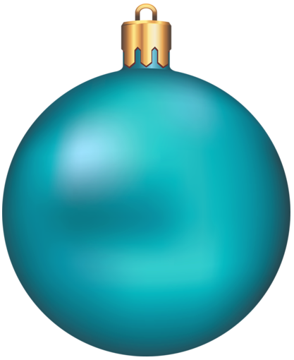 christmas blue ornament clip art