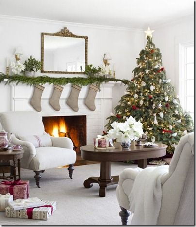 Christmas Mantel Christmas Decorating Pinterest Christmas