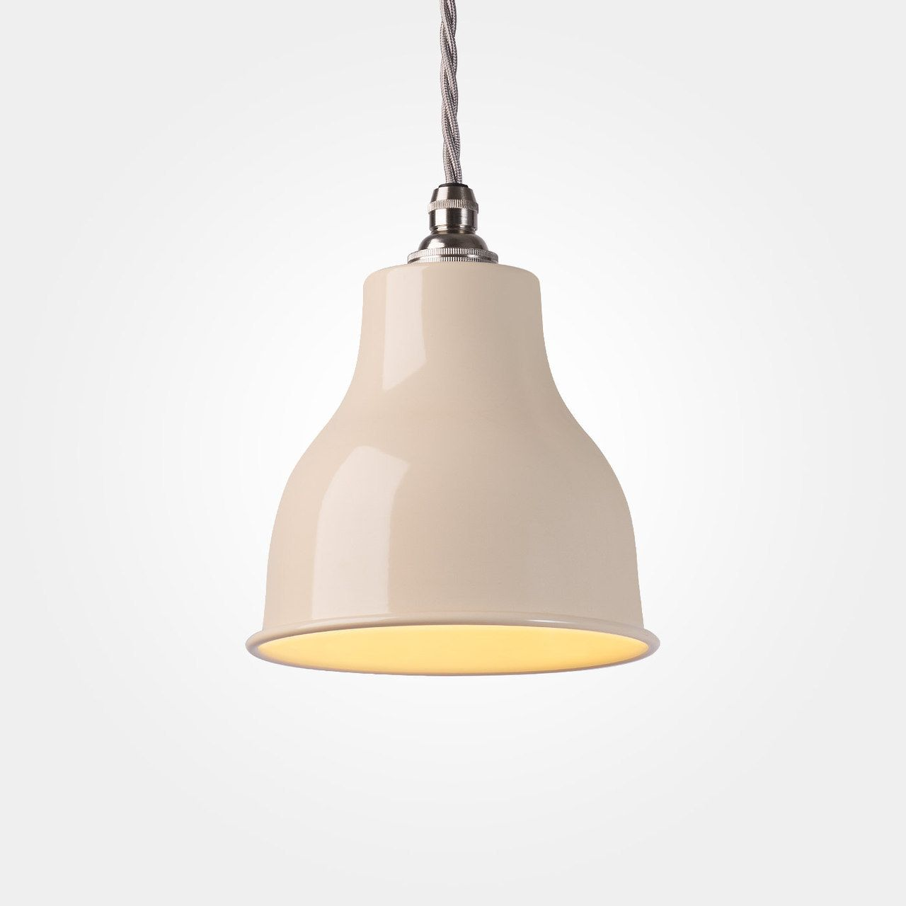 Factory pendant small ivory vintage industrial lighting