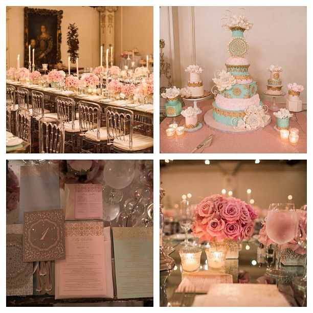 Tiffany Blue Pink And Gold Inspiration Wedding Theme Colors Quinceanera Decorations My Perfect Wedding