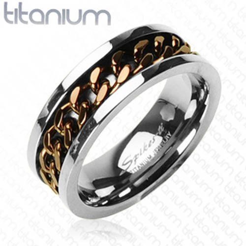 Solid Titanium With Ip Coffee Chain Spinner West Coast Jewelry 15 95 Titanium Jewelry Rings For Men Steel Jewelry
