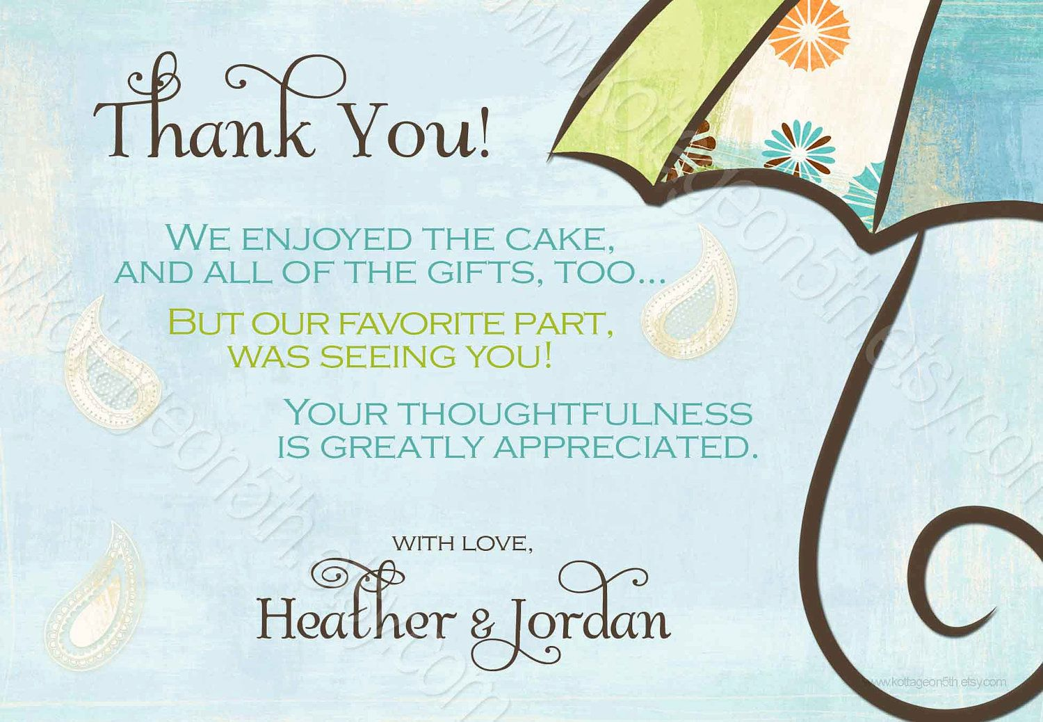 generic thank you note baby shower cheap buy online