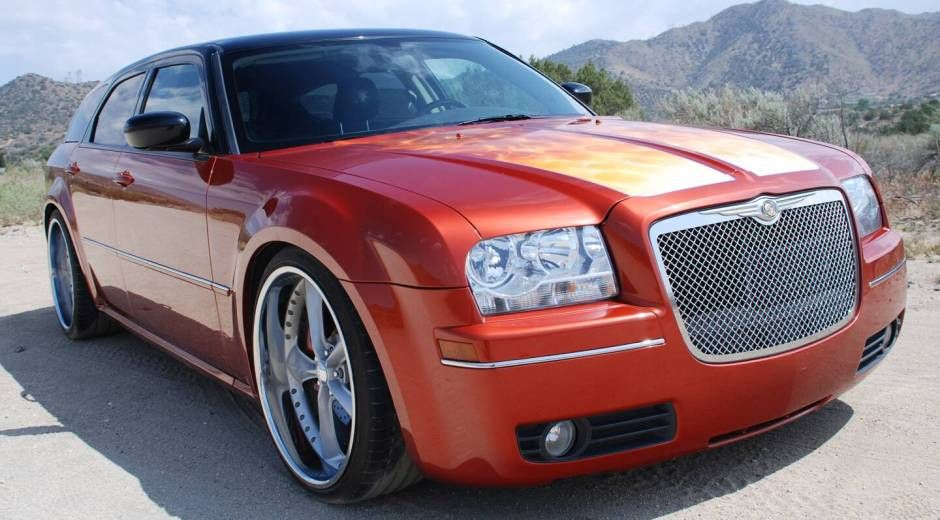 Custom Dodge Magnum RT with a Chrysler 300 front end. Design by Chip Foose featured on Overhaulin'.
