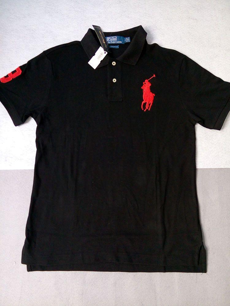 2ecf2a5e9ad34c Ralph Lauren Black Royal Big Pony Custom Fit Men s Polo Short sleeves Sz  XXL  fashion  clothing  shoes  accessories  mensclothing  shirts (ebay link)