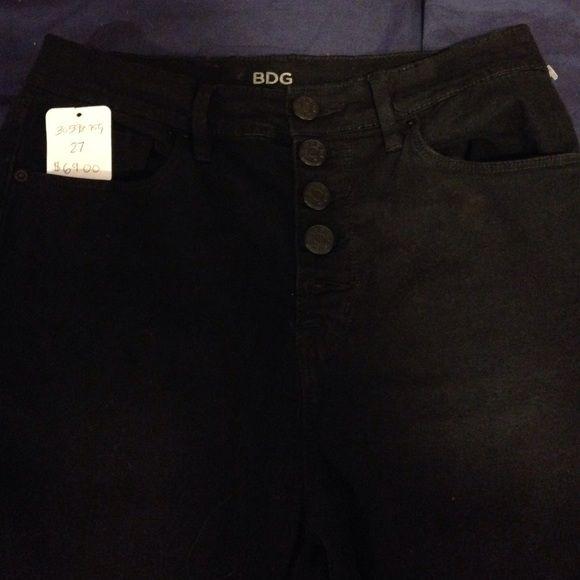 BDG black highwaisted jeans SIZE 27 Never worn BDG black skinny highwaisted jeans. BDG Jeans