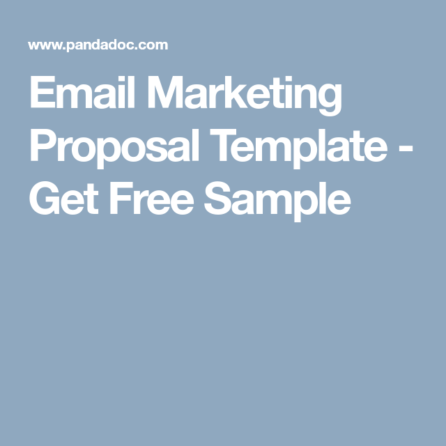 Email Marketing Proposal Template Get Free Sample Biz Research