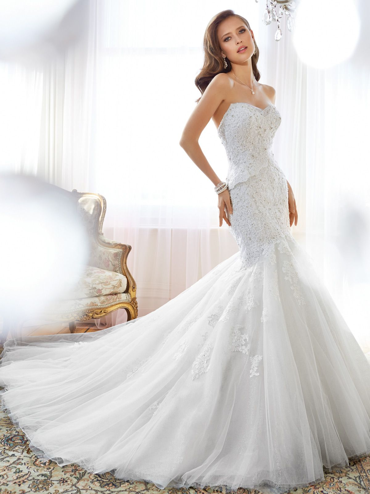 Mermaid Wedding Dress with Sweetheart Neckline and Back Corset ...