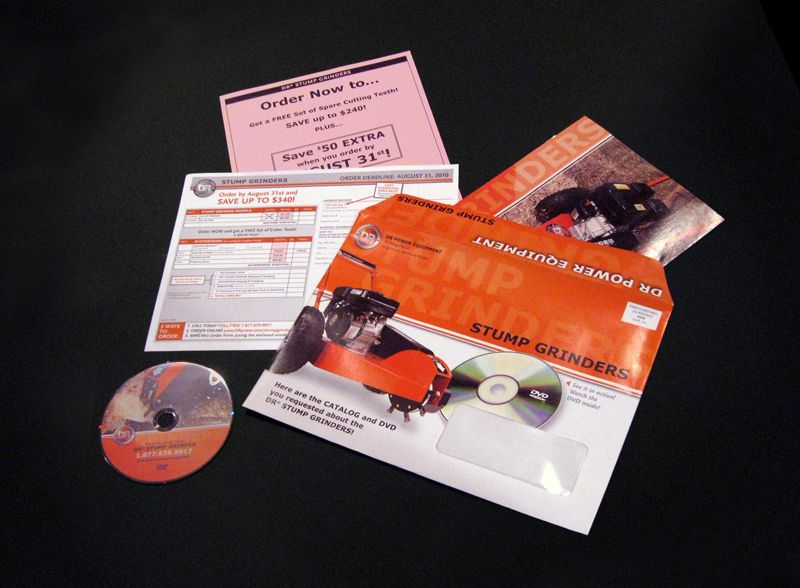 Project Product information package (envelope, catalog, DVD art - order form layout