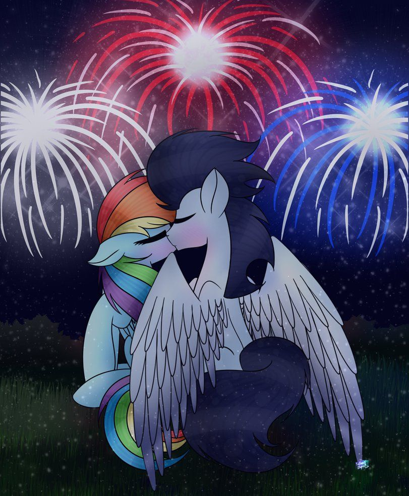 Ya'll knew I was gonna do this XD Welp, Merry Christmas Eve, or Christmas for all ze timezones XD All made in Medibang Soarin and Rainbow Dash Hasbro Art NorthernLights8