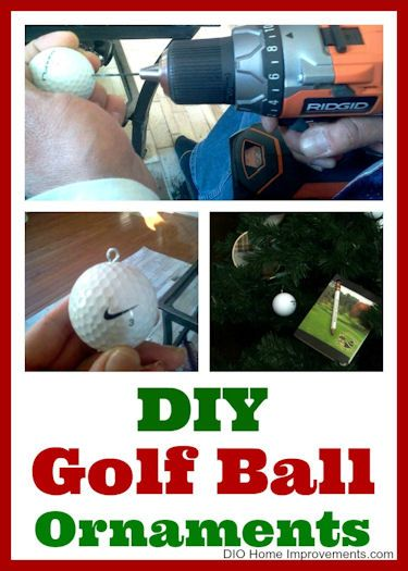 DIY Golf Ball Ornaments, super easy and quick to make for a Golf Themed  Christmas Tree! - DIY Golf Ball Ornaments Golf Ball Pinterest Golf Ball Crafts