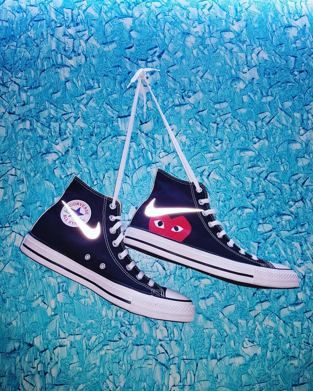 Customized kicks Converse X CDG X Nike