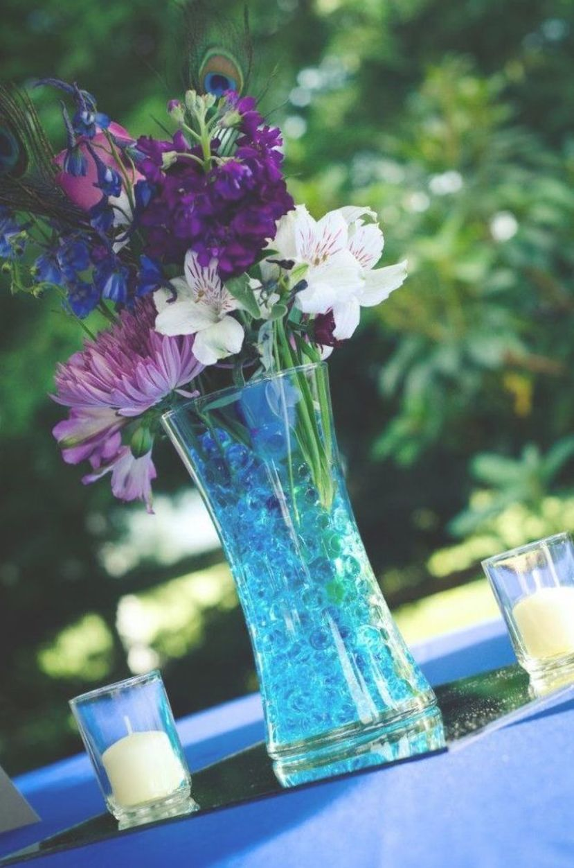 Blue And Purple Centerpieces Would Look Super Cute With Magenta