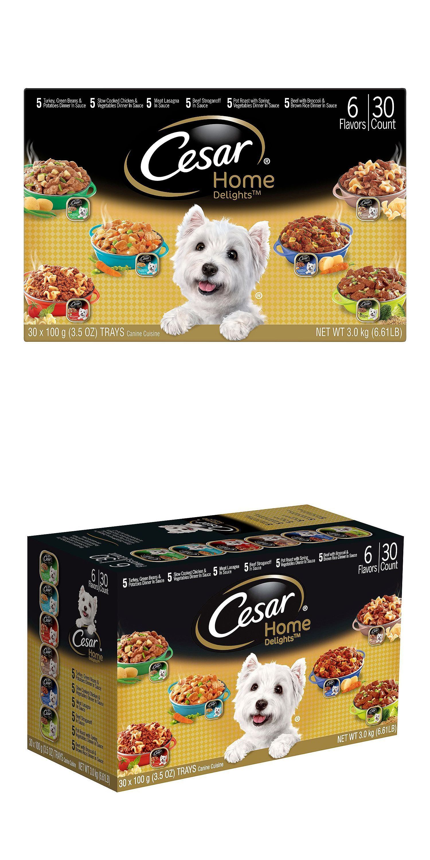 Dog Food 66780 Cesar Home Delights Wet Dog Food Variety Pack