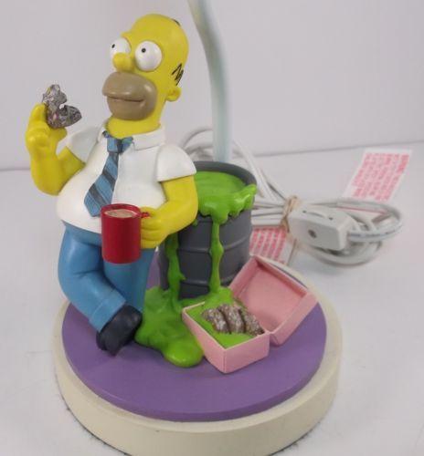 Simpsons-Table-Lamp-Homer-Eating-Radioactive-Donut-SIMP03-2002-No-Lamp-Shade