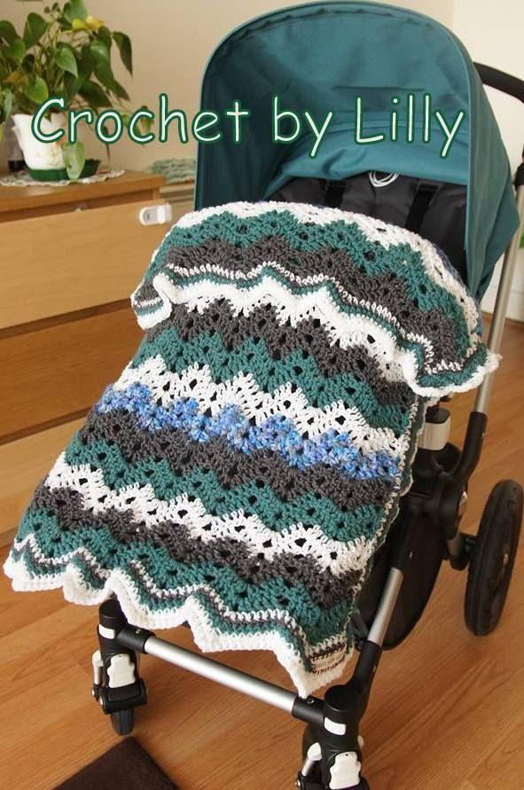 crochet baby blanket zigzag to fit Bugaboo Cameleon pram/pushchair http://cgi.ebay.co.uk/ws/eBayISAPI.dll?ViewItem&item=261291705477