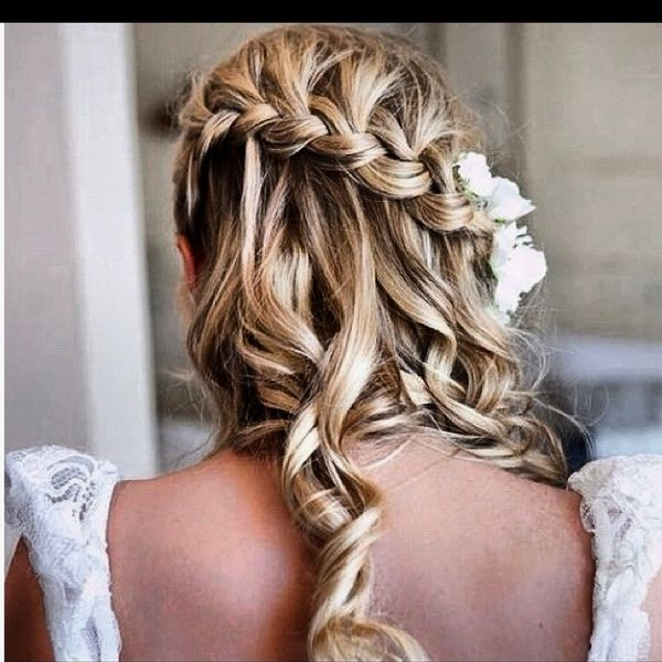 Prom Hairstyle 2012 3 With Images Waterfall Braid Hairstyle Pretty Hairstyles Wedding Hairstyles