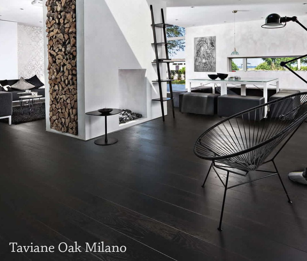 The brown and black toned Oak Milano gives off a rustic