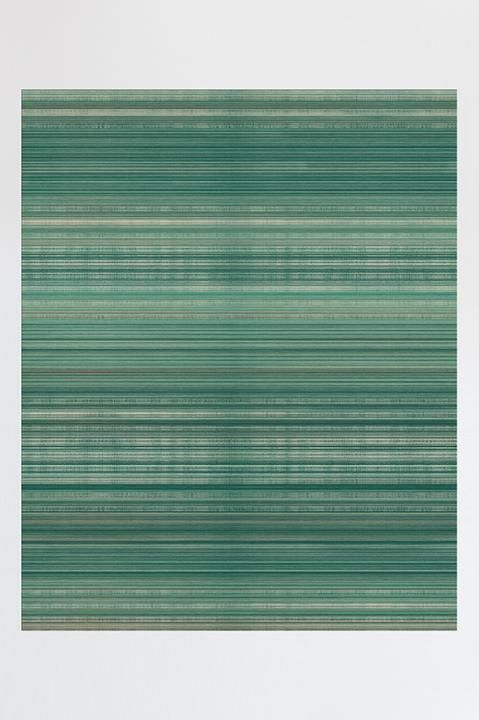 Coastal Linear Stripe Aqua Rug Washable Area Rugs Aqua