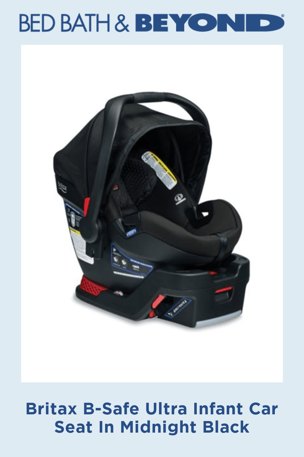 Britax B-Safe Ultra Infant Car Seat In Midnight Black