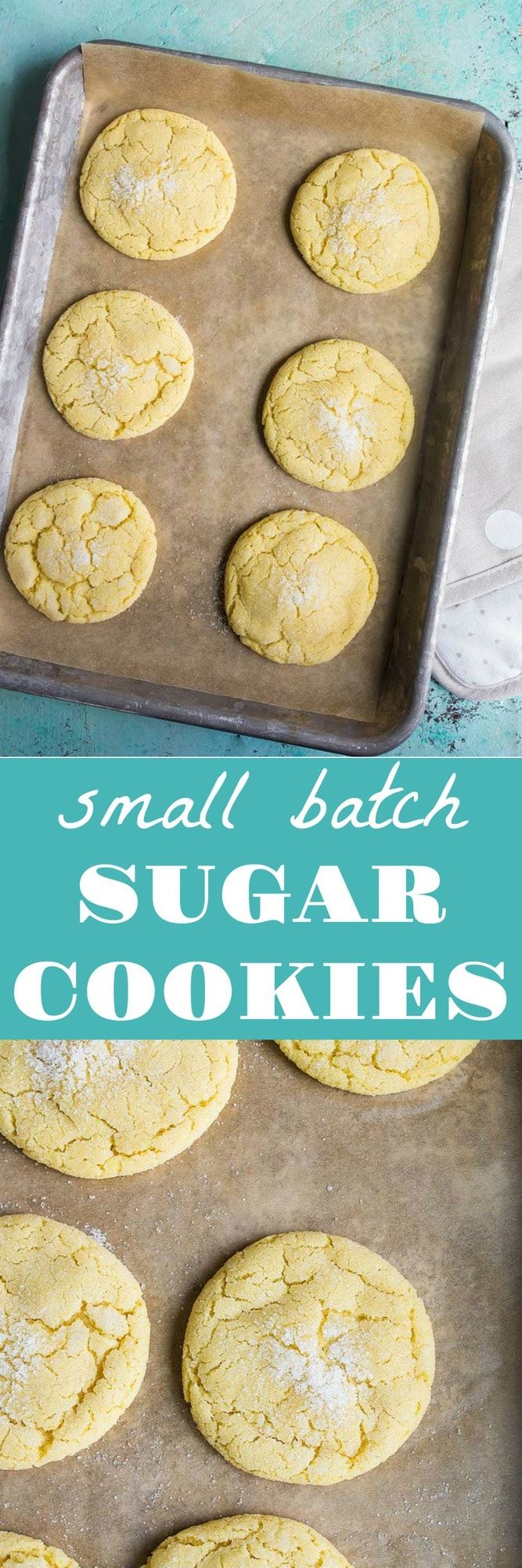 Small batch sugar cookies recipe for two. Recipe makes just 6 cookies. No chill sugar cookies. No chilling time required for half dozen sugar cookies. #easysugarcookies #sugarcookiesrecipe #nochillsugarcookies #classicsugarcookie #sugarcookies