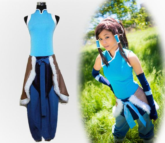 Custom Made Blue Avatar The Legend Of Korra Korra Cosplay