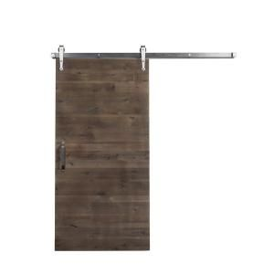 Rustica Hardware 42 in. x 84 in. Reclaimed Home Depot Gray Wood Barn Door with Arrow Sliding Door Hardware Kit-HD36X7RRHDGARBS - The Home Depot