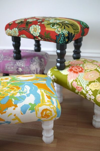 Easy Diy Project To Re Cover In Fabric Of Choice Upholstery Diy