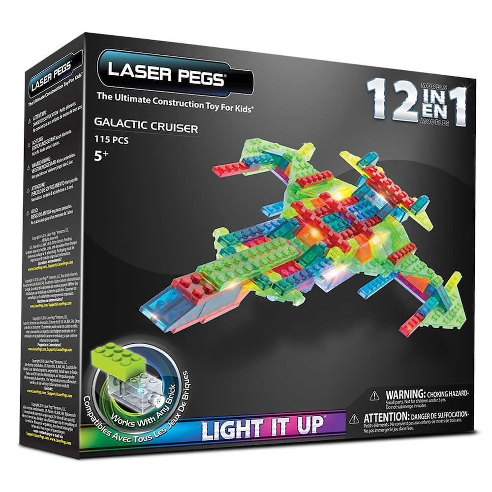 Laser Pegs 12in1 Galactic Cruiser Lighted Construction