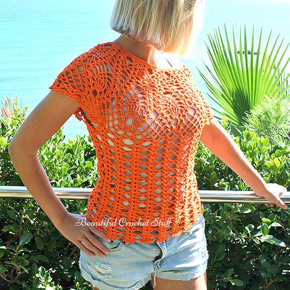 Piña del ganchillo patrón superior Crochet por MyBeautifulStuff ...