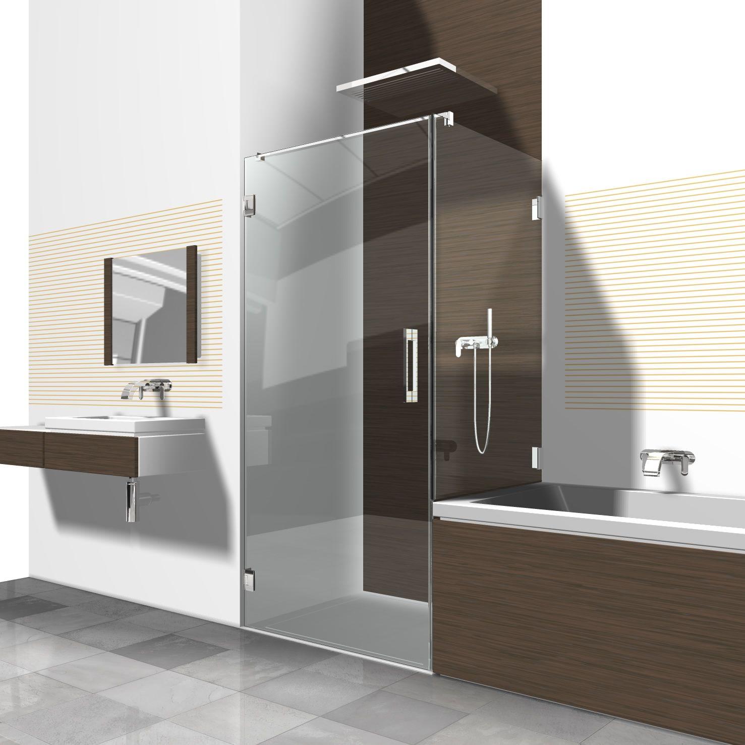 duschabtrennung dusche neben badewanne Eckduschen