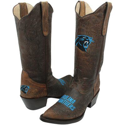 5c7c4371aeb Carolina Panthers Women's Flyover Pull-Up Cowboy Boots - Brown ...